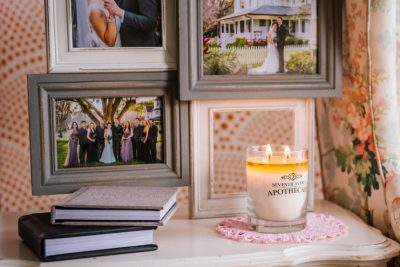 Custom Branded Wedding Candles Made With Soy Wax!